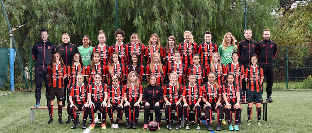 Effectif OGC Nice 2017/2018, équipe feminines